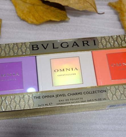 SET NƯỚC HOA NỮ BVLGARI THE OMNIA JEWEL CHARMS COLLECTION EDT 15ml