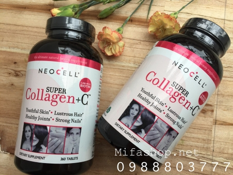 SUPER COLLAGEN + C NEOCELL BỔ SUNG BIOTIN 5000MG 360 VIÊN
