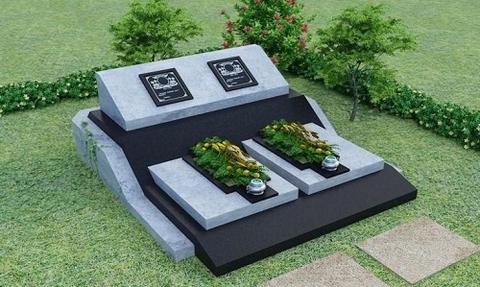 mộ đá đôi hiện đại