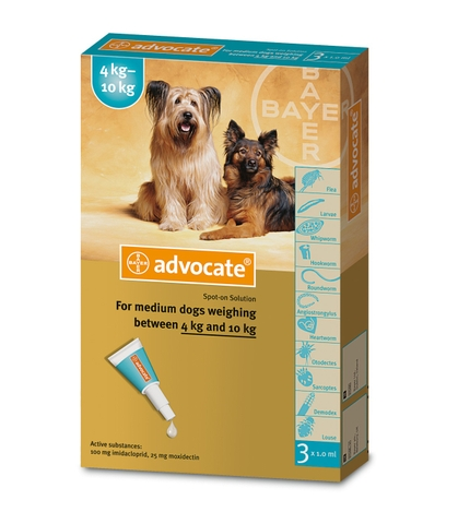 Bayer Advocate® spot on for Medium Dogs 4kg-10kg