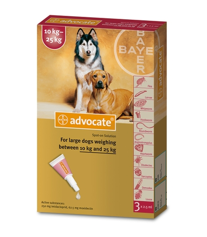 Bayer Advocate® spot on for Large Dogs 10kg-25kg