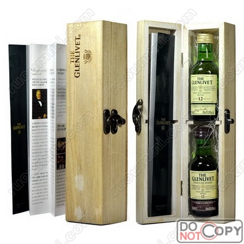 Glenlivet 12 & 15 years in wooden box