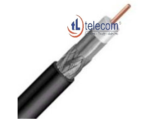 Cáp đồng trục-Coaxial cable Alantek RG-6 Quad-shield Part Number: 301-RG0600-QSBK-1223