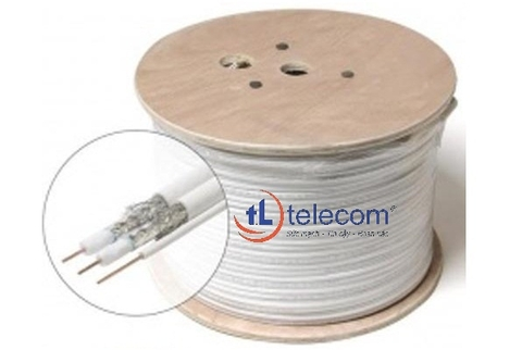 Cáp đồng trục-Coaxial cable Alantek RG-6 Tri-Shield (White) Part number: 301-RG0600-3SWH-1223