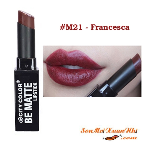 son-city-color-be-matte-lip-stick-mau-21-Francesca