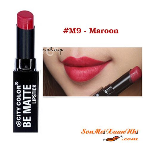 son-city-color-be-matte-lip-stick-mau-9-maroon