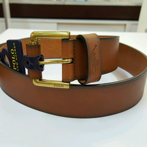 Thắt Lưng Da Nam Polo Ralph Lauren Genuine leather Belt Tan