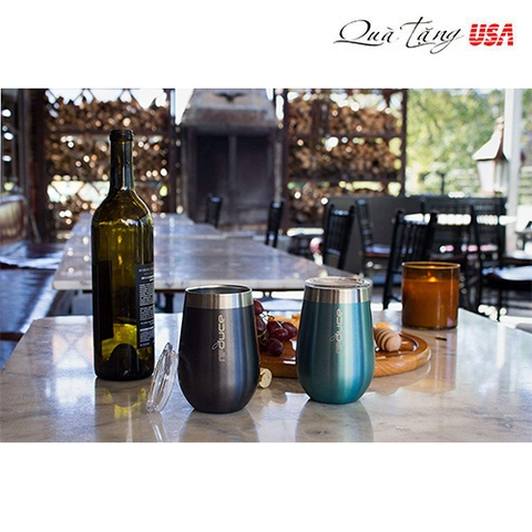 Ly giữ lạnh rượu REDUCE Stemless Wine Tumbler with Lid – 12oz Stainless Steel Vacuum Insulated Cup