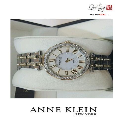 Đồng hồ nữ - Anne Klein New York Womens Swarovski Crystal Two-Tone Watch