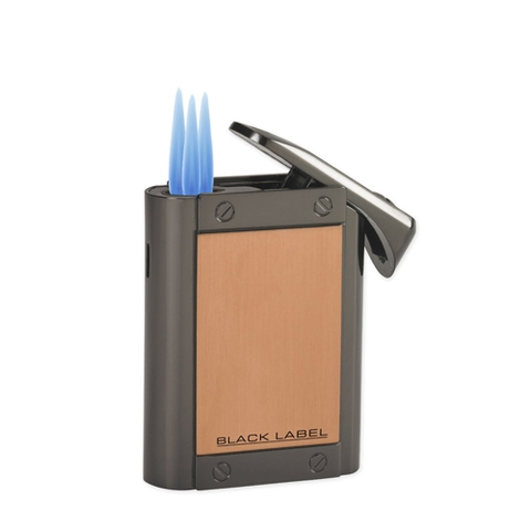 Hộp quẹt Black Label Bombay Dark Gun & Copper Satin Lighter