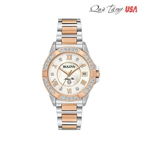 Đồng hồ nữ Bulova Marine Star Diamond Accent Quartz Women's Watch