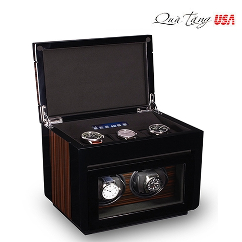 Hộp đồng hồ cơ Double Watch Winder For Men's Automatic Watches, Bonus Three Watch Box Storage