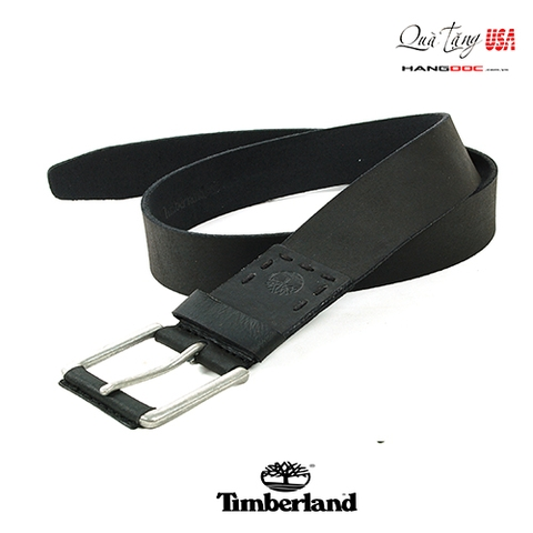 Thắt lưng da nam - Timberland New Mens Belt Genuine Leather Silver-tone Single Prong B75392 Black