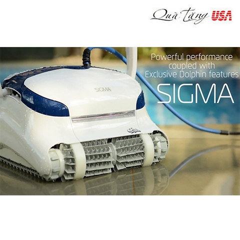 Robot dọn hồ bơi Dolphin Sigma Robotic Pool Cleaner with Gyro & Triple Motors