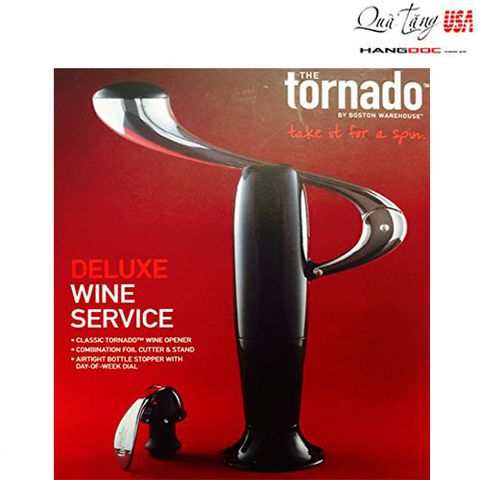 Dụng cụ mở rượu vang - The Tornado Deluxe Wine Service and Wine Opener