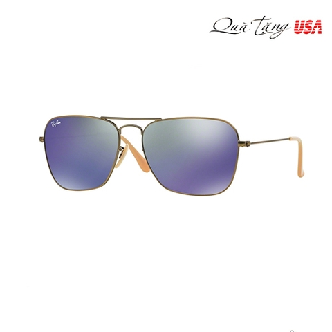RAY BAN RB 3136 167/68 DEMIGLOS BRUSHED BRONZE SUNGLASSES