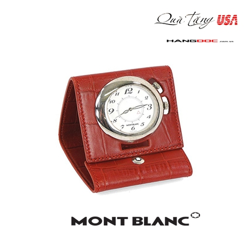 MontBlanc  Leather Alligator Travel Clock