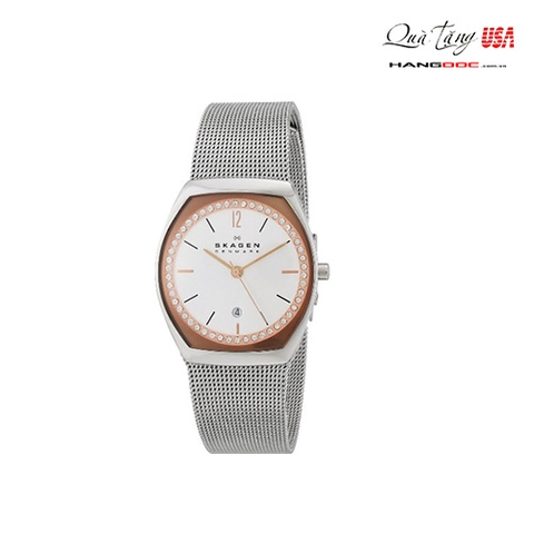 Đồng hồ nữ - Skagen Women's Stainless Steel Watch with Crystal-Set Subdial