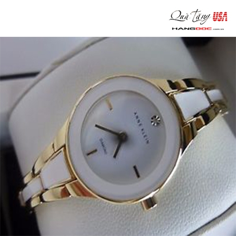 Đồng nữ - Anne Klein Genuine Diamond White Enamel Gold Tone Women's Watch