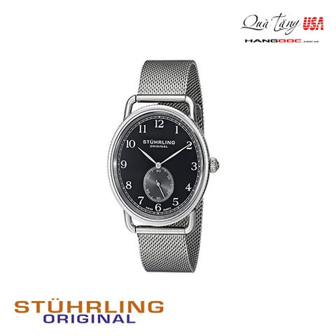 Đồng hồ nam - Stuhrling Original Men's Classique Swiss Quartz Stainless Steel with Black Dial
