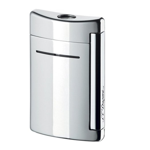 Hộp quẹt S.T. Dupont Minijet Chrome Grey Torch Flame Lighter