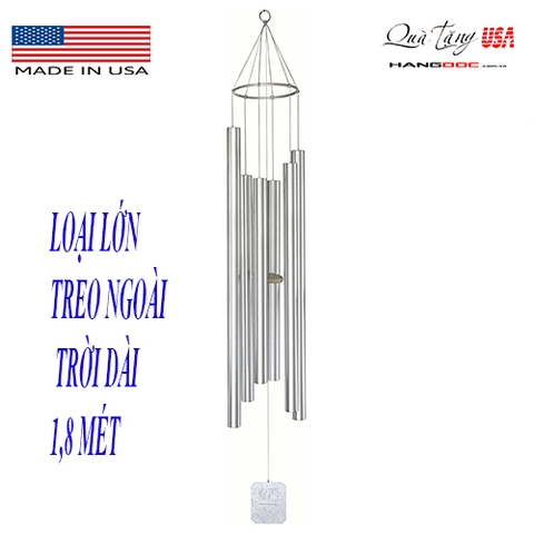 Chuông gió cở lớn 1,8 mét Grace Note Chimes Wind Chimes, 72-Inch, Silver (  Made in the U.S.A)