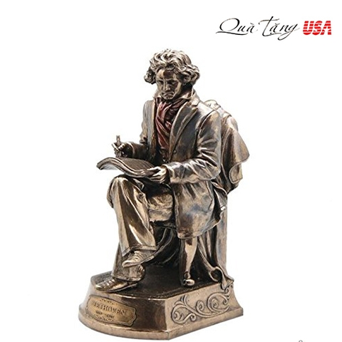 Tượng Beethoven Statue, Bronze Powder Cast 9.75-in