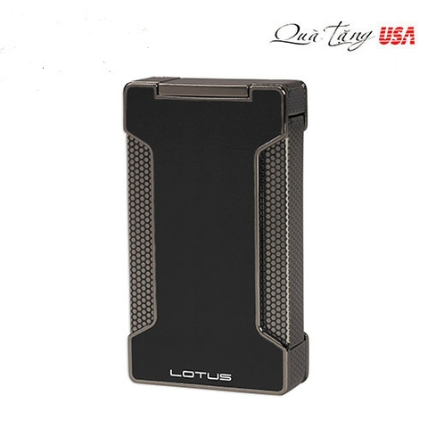 Lotus Ranger Twin Pinpoint Lighter with Punch - Black Lacquer & Gun