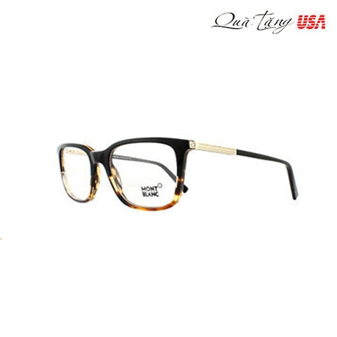 Mắt kính Mont Blanc Black / Havana Rectangle Men Optical Frames Eyeglasses