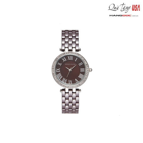 Đồng hồ nữ - Anne Klein Women's Swarovski Crystal Brown Ceramic Bracelet Watch