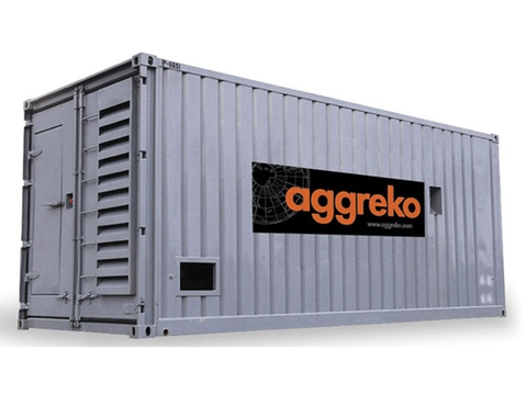 Typical Aggreko temporary power plant