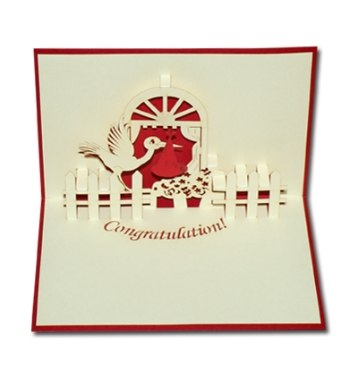 A new baby 3D pop up greeting card