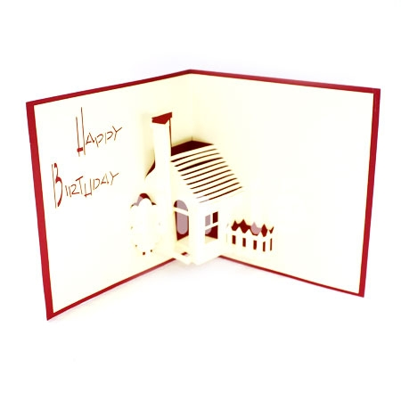 HOUSE 1-3D CARD/POPUP/BIRTHDAY CARD