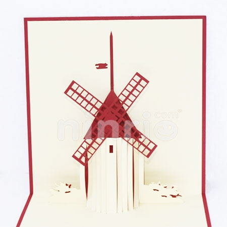 WINDMILLS CARD/GREETING CARD/ CONGRATULATIONS CARD