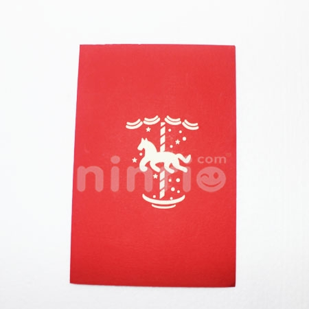 Merry-go-round CARD/GREETING CARD/ CONGRATULATIONS CARD