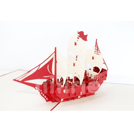 BOAT 3-3D CARD/POPUP/CONGRATULATIONS CARD
