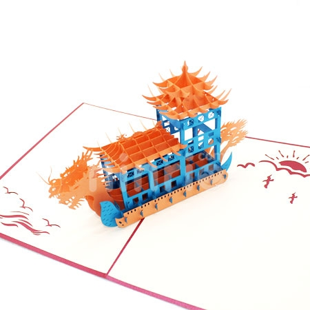 DRAGON BOAT-3D CARD/POPUP/CONGRATULATIONS CARD