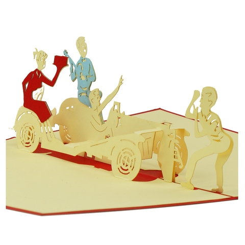 BIRTHDAY CAR-3D CARD/POPUP/BIRTHDAY CARD/ GREETING CARD