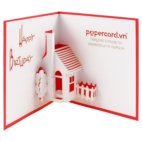 HOUSE 1-3D CARD/POPUP/BIRTHDAY CARD/ GREETING CARD