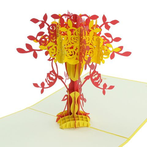 Flower Vase - 3D pop up card / Birthday card / Greeting card/ Congratulation card