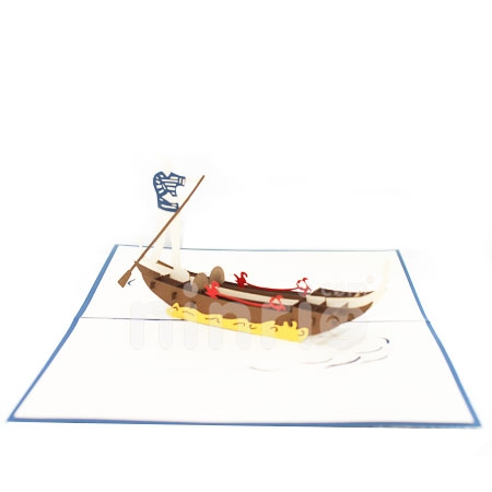 BOATS-3D CARD/POPUP/CONGRATULATIONS CARD