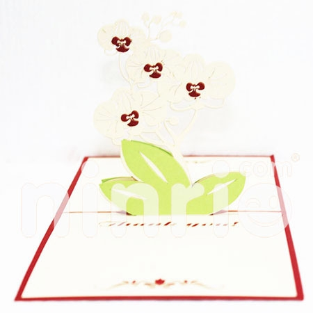 ORCHID CARD/THANK YOU CARD/GREETING CARD/ CONGRATULATIONS CARD