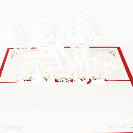 ANGEL FLUTE-3D CARD/POPUP CARD/LOVE AND WEDDING CARD