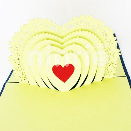 HEART 3-3D CARD/POPUP CARD/LOVE AND WEDDING CARD