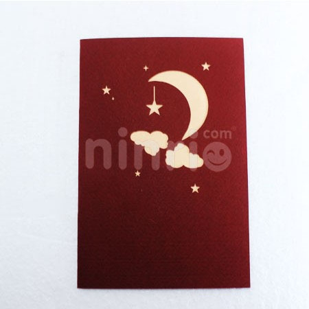 MOON CARD/GREETING CARD/ CONGRATULATIONS CARD