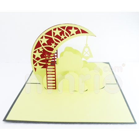 Crescent-3D CARD/POPUP/CONGRATULATIONS CARD