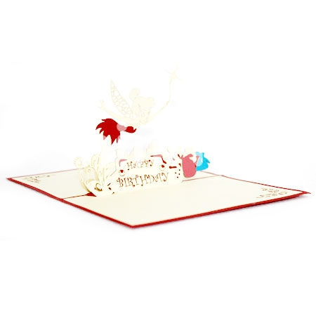 HAPPY ANGELS-3D CARD/POPUP/BIRTHDAY CARD