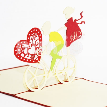 LOVE BIKES-3D CARD/POPUP CARD/LOVE AND WEDDING CARD
