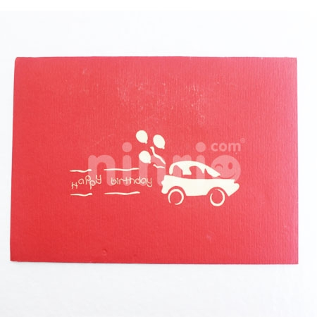 BIRTHDAY CAR-3D CARD/POPUP/BIRTHDAY CARD