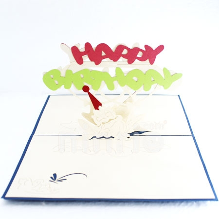 FROG-3D CARD/POPUP/BIRTHDAY CARD